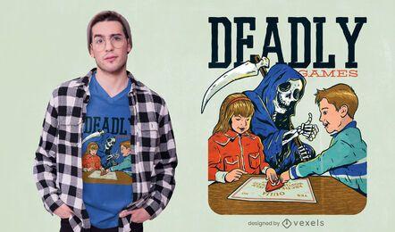 Diseño de camiseta Deadly Games Funny Parody