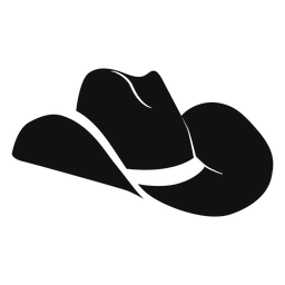 Ícone plana chapéu ocidental