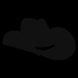 Icono plano sombrero occidental