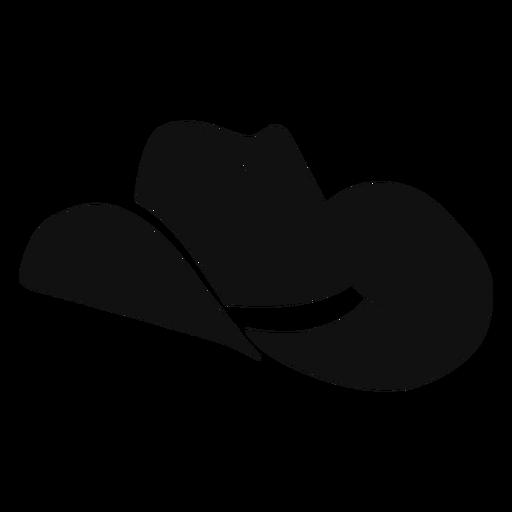 Ícone plana chapéu ocidental Transparent PNG