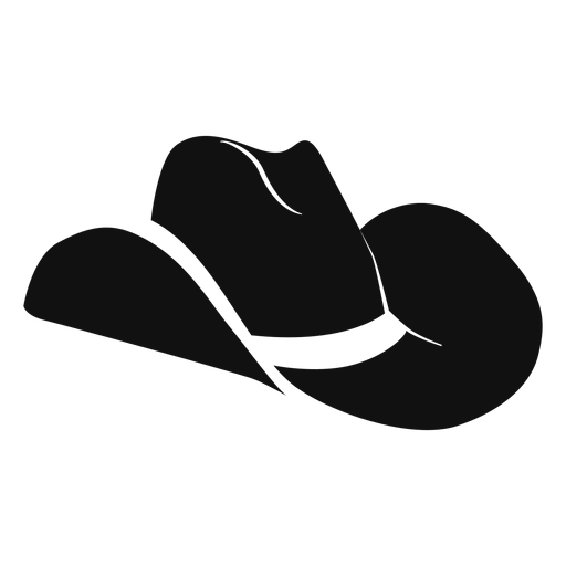 Western hat flat icon Transparent PNG