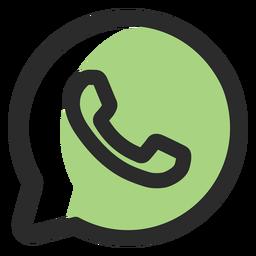 Ícone de traço colorido WhatsApp