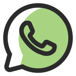 Whatsapp colored stroke icon