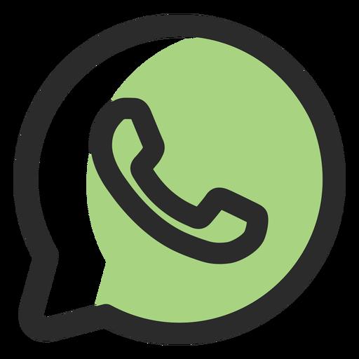 Ícone de traço colorido WhatsApp Transparent PNG