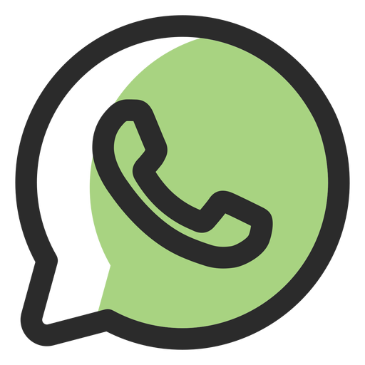 Whatsapp colored stroke icon Transparent PNG