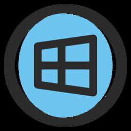 Ícone de traçado colorido do Windows