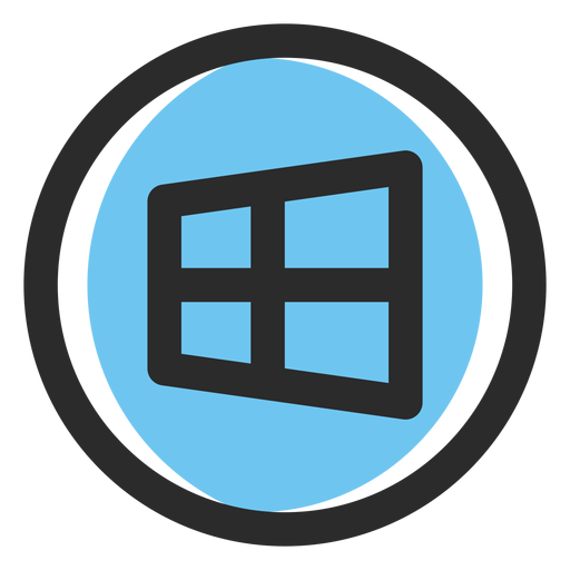 Windows colored stroke icon Transparent PNG