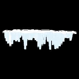 Icono de invierno carámbano