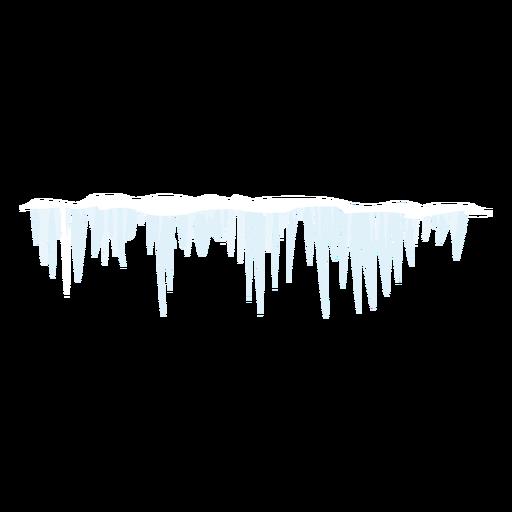 Ícone de sincelo de inverno Transparent PNG
