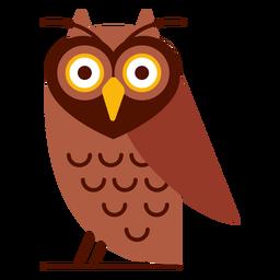 Ilustración de búho sabio