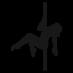 Frauenstangentanzschattenbild-Stangentanz