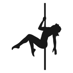Woman pole dancing silhouette pole dance