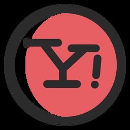 Icono de trazo de color de Yahoo