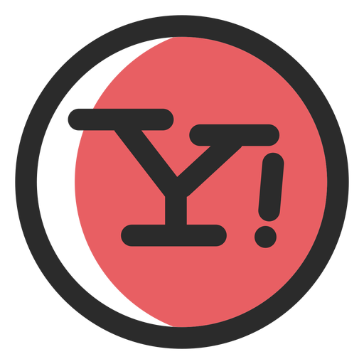 Yahoo colored stroke icon Transparent PNG