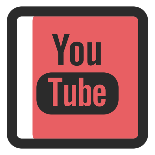 Youtube colored stroke icon Transparent PNG