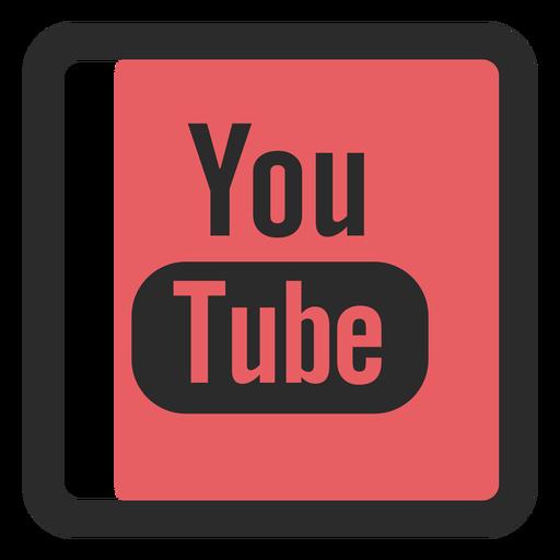 Youtube colored stroke icon