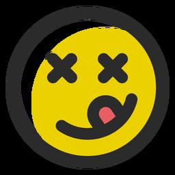 Emoticon de trazo coloreado yum