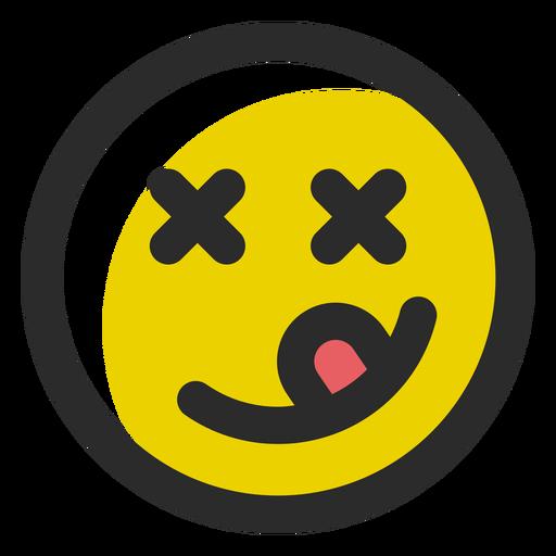 Yum farbiger Schlag Emoticon Transparent PNG