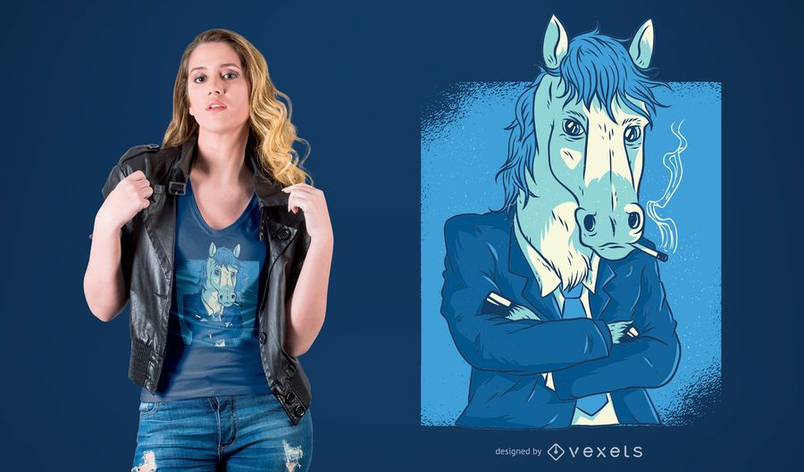 Horse in Business Suit T-shirt Design