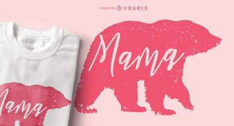 Mama Bear Animal Silhouette Design de t-shirt
