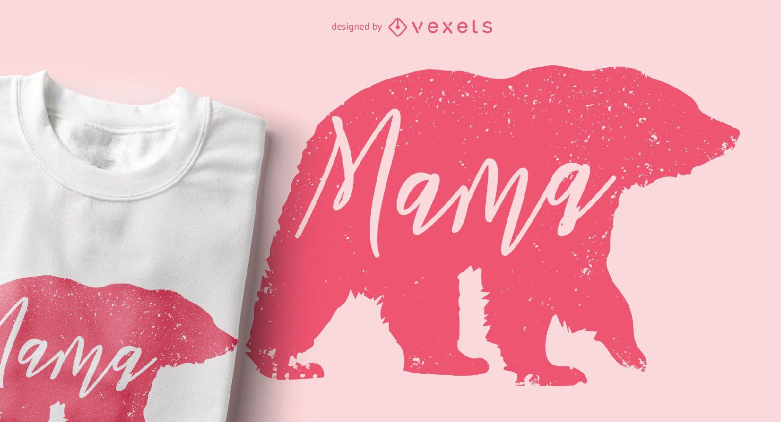 Mama Bear Animal Silhouette T-shirt Design