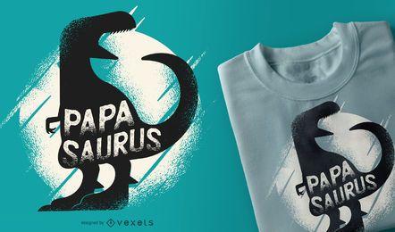 Design de camisetas engraçadas do papai dinossauro Papasaurus Rex