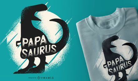 Papasaurus Rex lustiger Dinosaurier-Vati-T-Shirt Entwurf