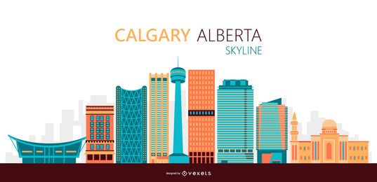 Calgary skyline illustration