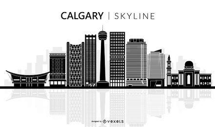 Calgary skyline silhouette