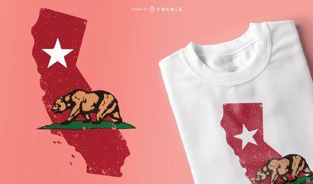 Diseño de camiseta de california
