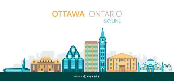 Ilustração do skyline de Ottawa