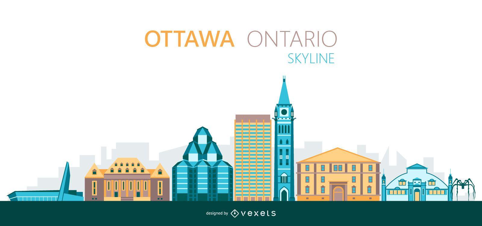Ottawa skyline illustration