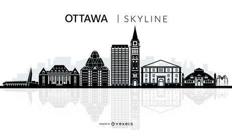 Silhueta de horizonte de Ottawa