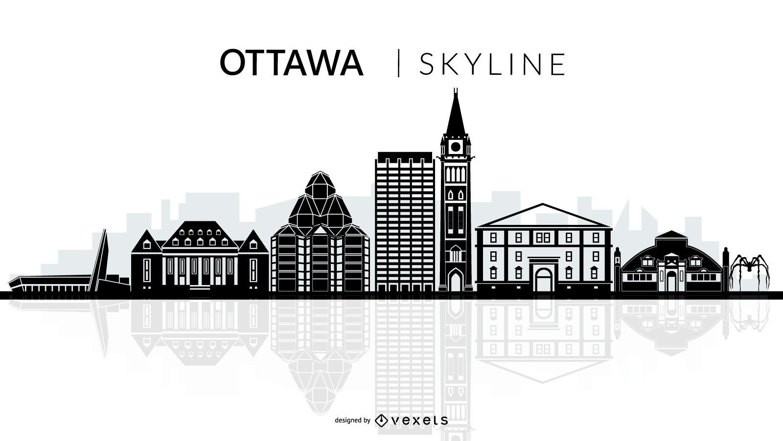 Ottawa skyline silhouette