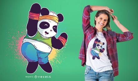 Diseño de camiseta zumba panda