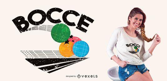 Bocce Balls Game Design de T-shirt