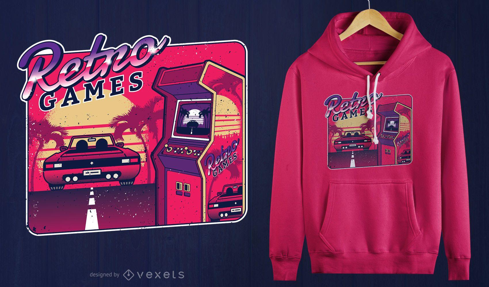 Retro Gaming Arcade T-shirt Design
