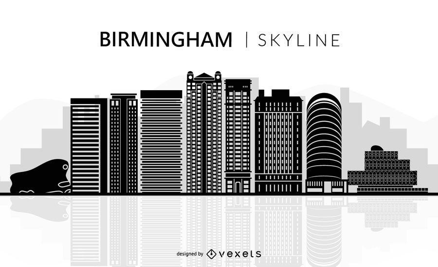 Birmingham skyline silhouette