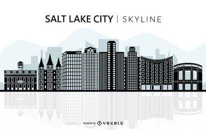 Silueta de horizonte de Salt Lake City