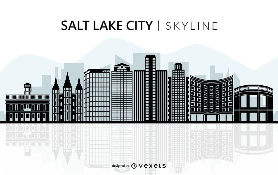 Silhueta de horizonte de Salt Lake City