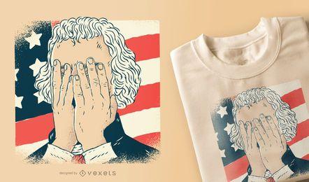 Diseño de camiseta de Thomas Jefferson facepalm