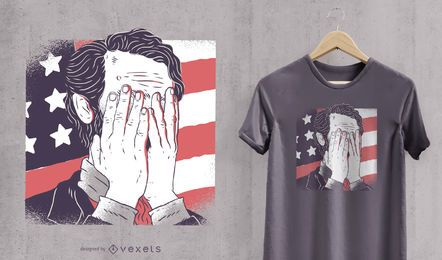 Diseño de camiseta facepalm de Abraham Lincoln