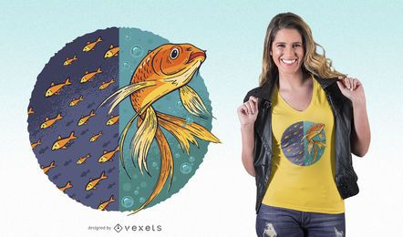 Unabhängiger Goldfisch-T-Shirt Entwurf