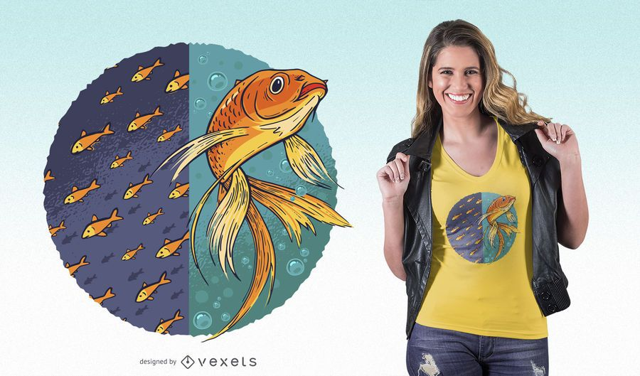 Independent Goldfish T-shirt Design