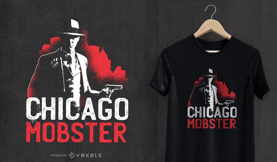 Projeto do t-shirt do mafioso de Chicago