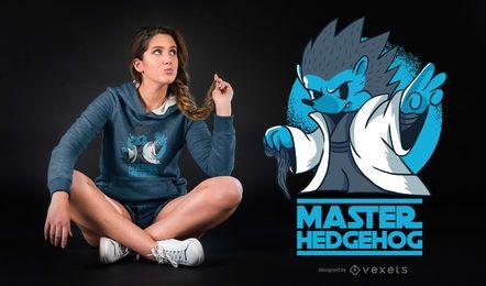 Meister-Igel-lustiger Parodie-T-Shirt Entwurf