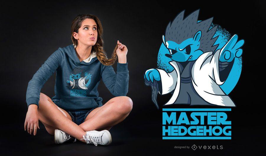 Master Hedgehog Funny Parody T-shirt Design