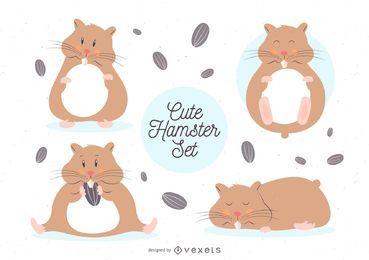 Conjunto de hamster bonito