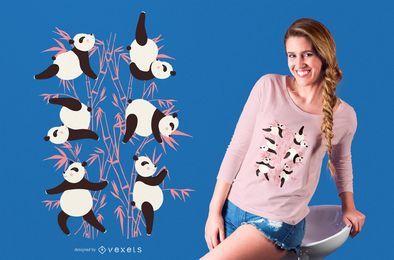 Panda design de t-shirt de ioga