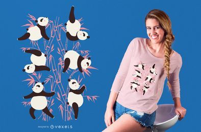 Panda yoga t-shirt design